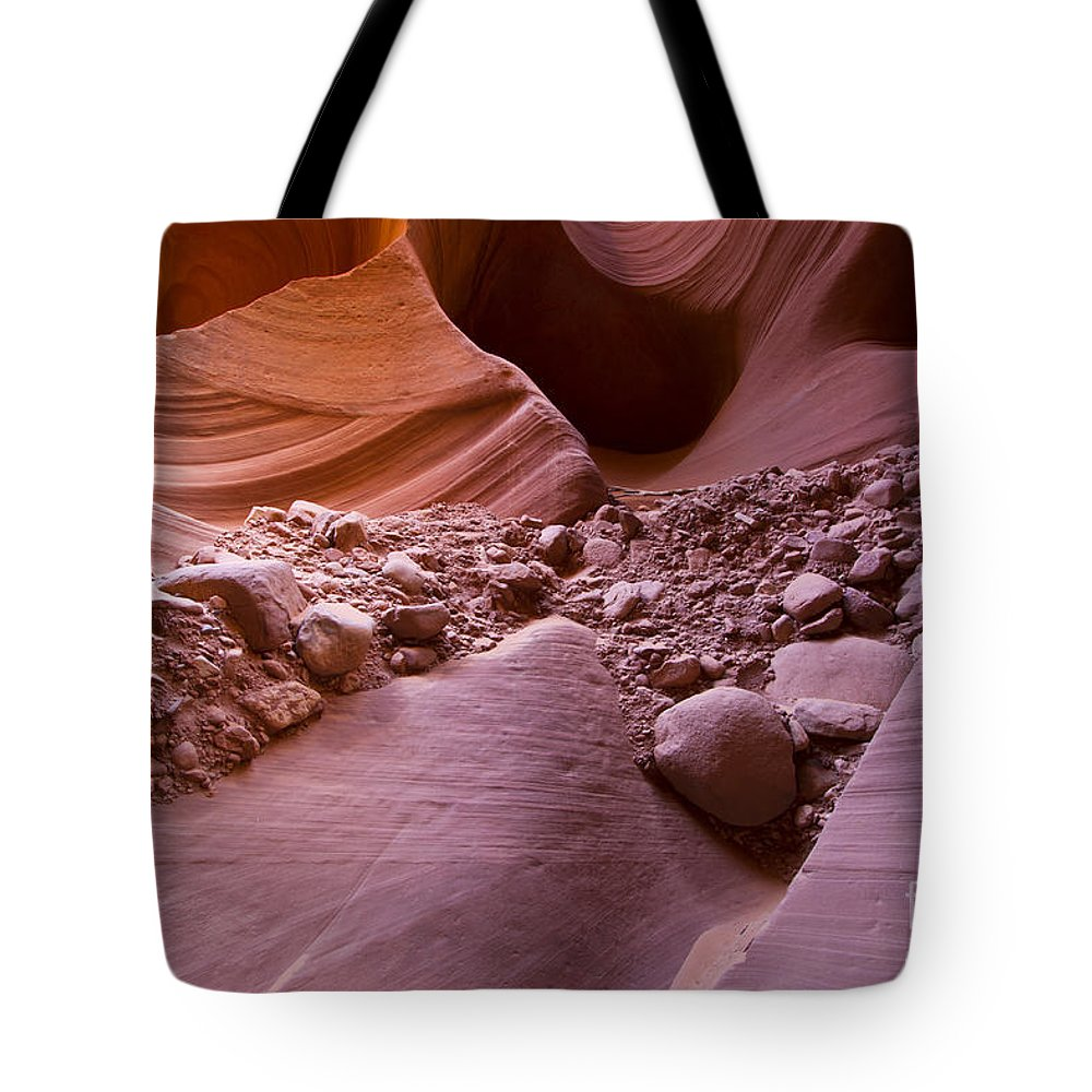 Antelope Canyon Tote Bag featuring the photograph Canyon Rocks In Abundance by Bryan Keil