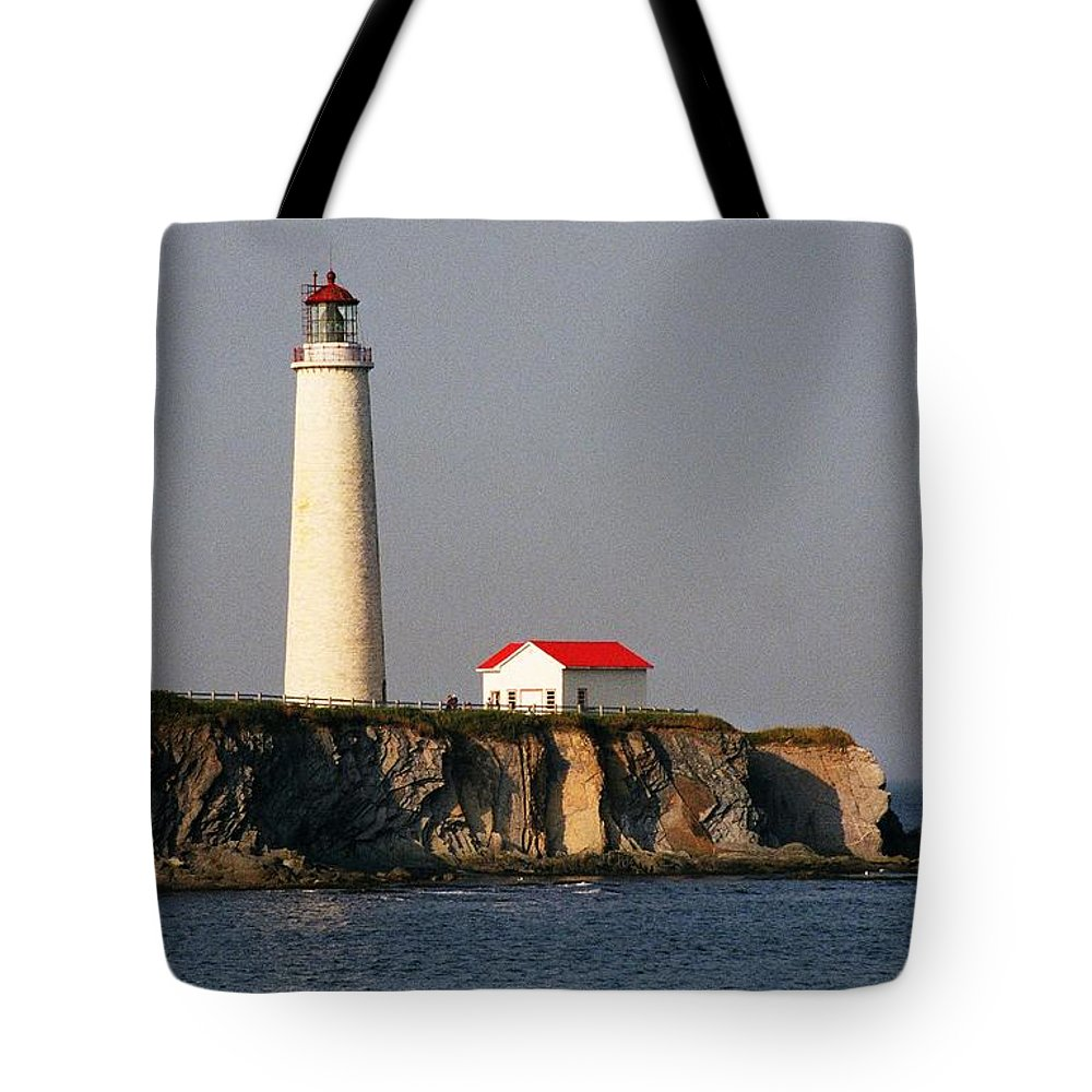 North America Tote Bag featuring the photograph Cap Des Rosiers - Quebec by Juergen Weiss