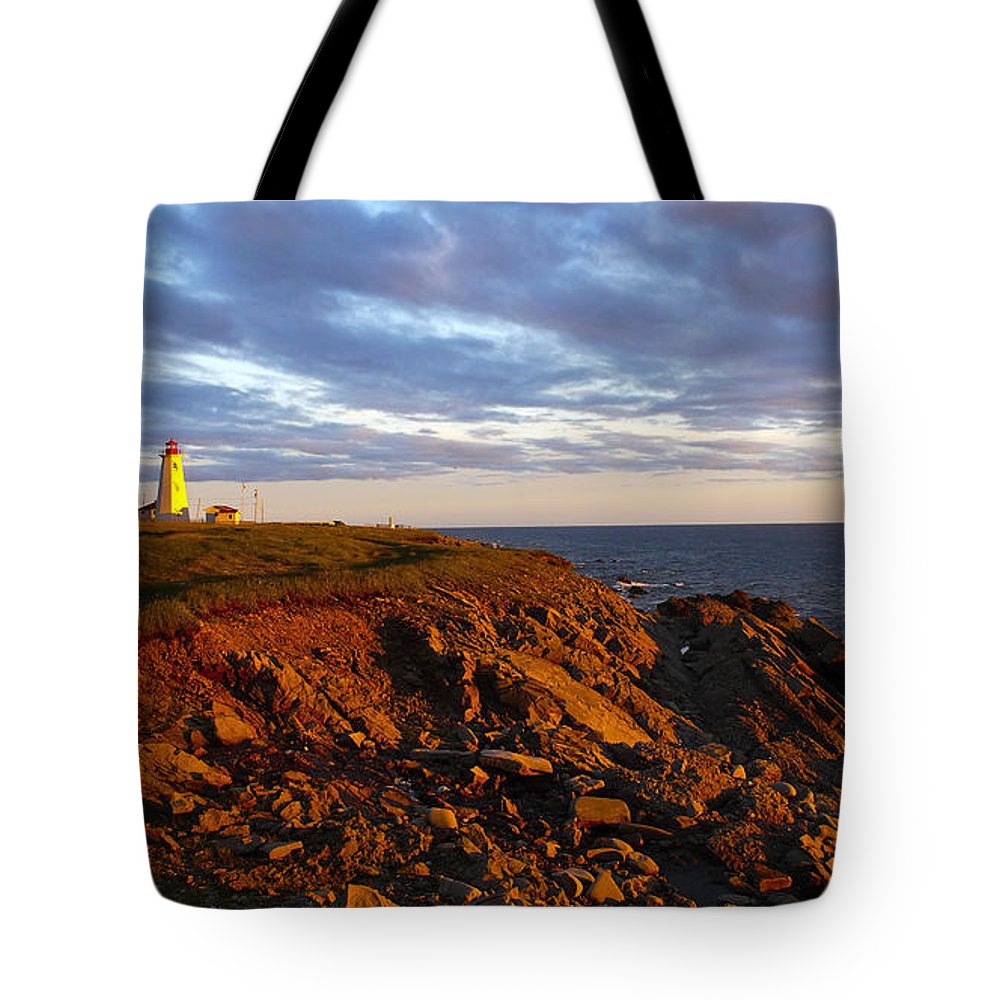Light Tote Bag featuring the photograph Cape Anguille Lighthouse by Mark Snyder