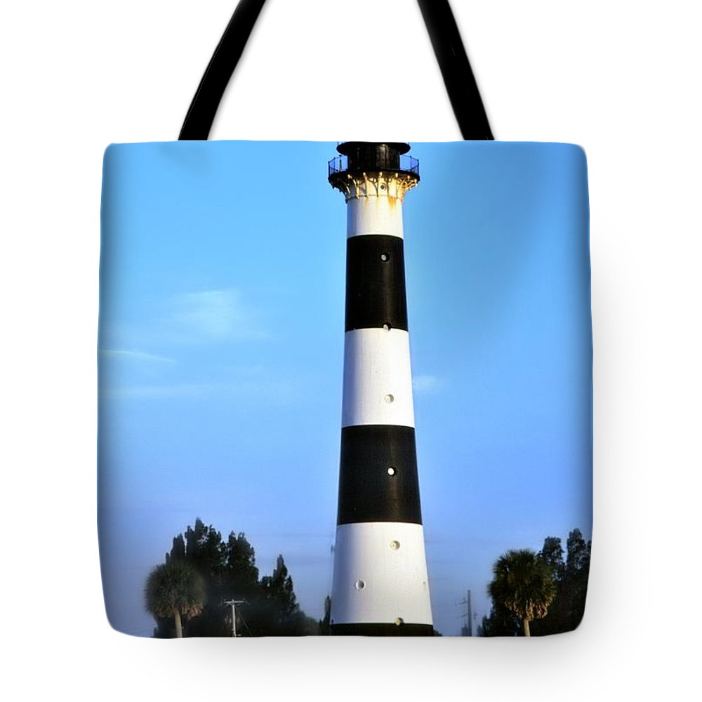 Cape Canaveral Tote Bag featuring the photograph Cape Canaveral Light by Bradford Martin