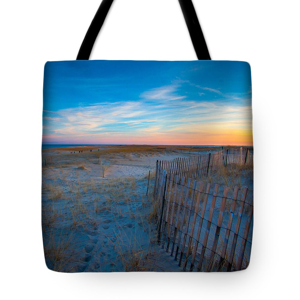 Lighthouse Beach Tote Bag featuring the photograph Cape Cod Sunset by Brian MacLean