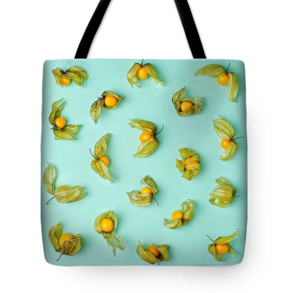 Winter Cherry Tote Bag featuring the photograph Cape Gooseberries Physalis, Winter by Juj Winn