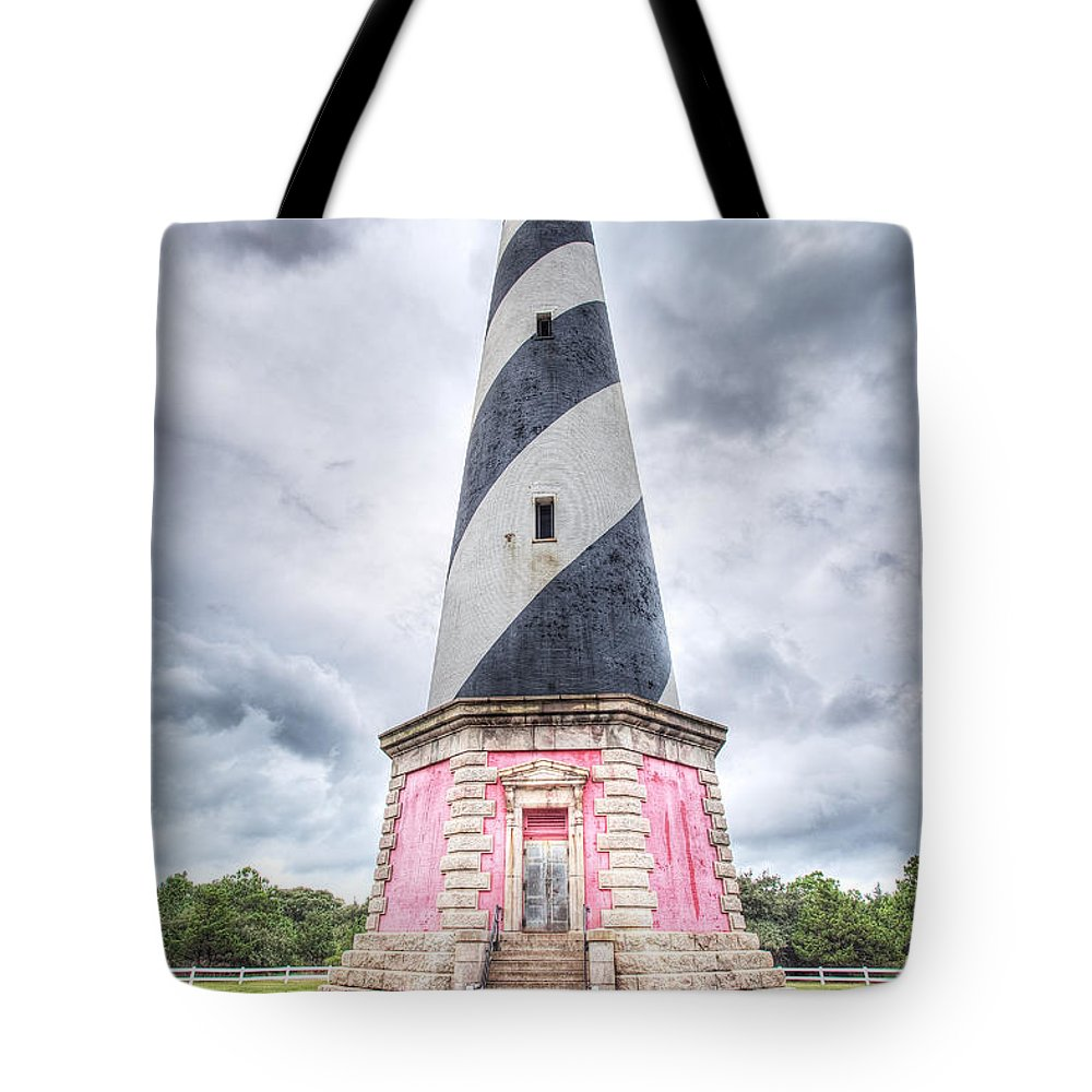 Lighthouse Tote Bag featuring the photograph Cape Hatteras Lighthouse by Michael Clubb