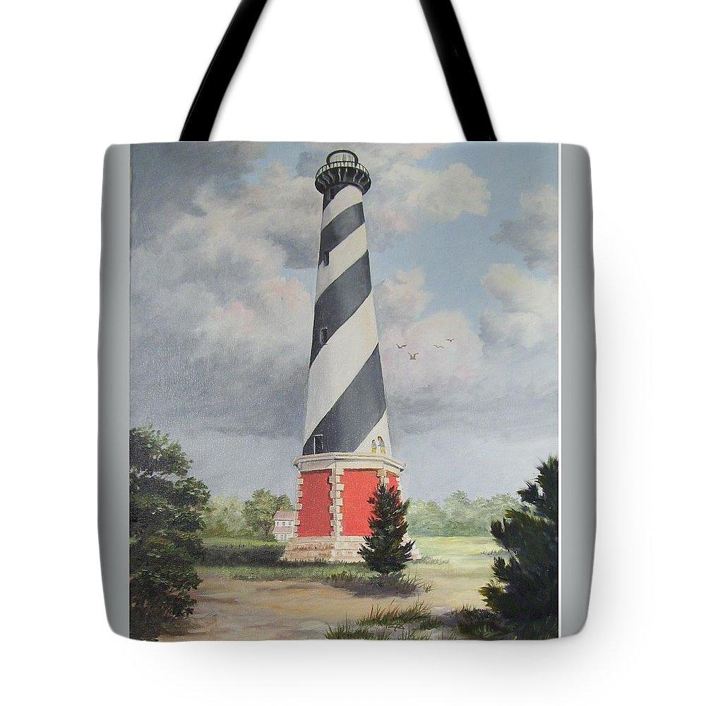 Sunrise Clouds Tote Bag featuring the painting Cape Hatteris Sunrise by Wanda Dansereau