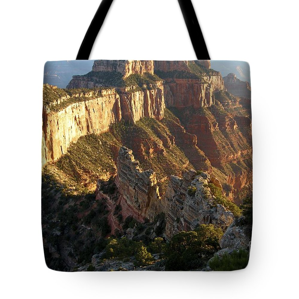Grand Canyon Tote Bag featuring the photograph Cape Royal Glow by Adam Jewell