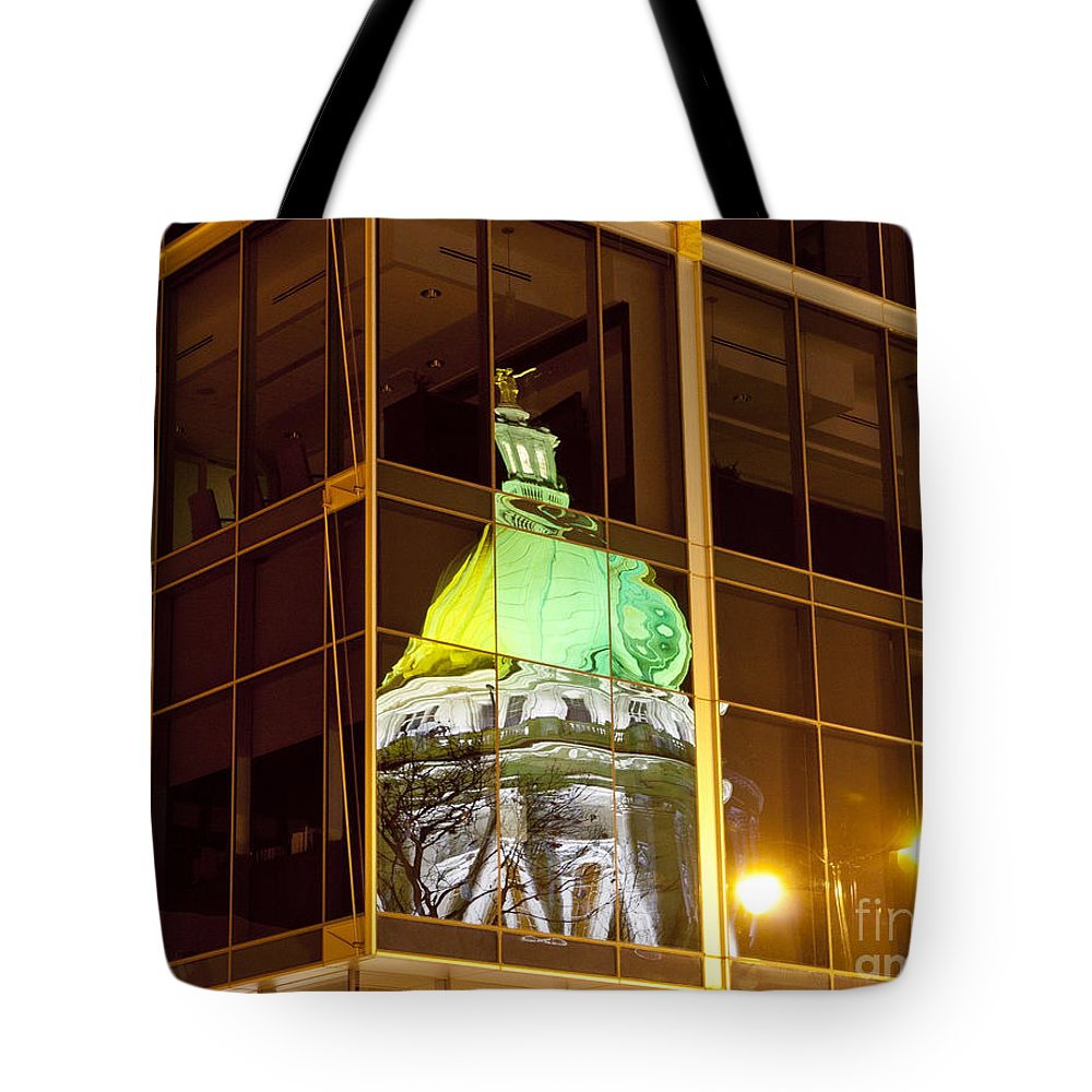 Capitol Tote Bag featuring the photograph Capitol Reflection by Steven Ralser