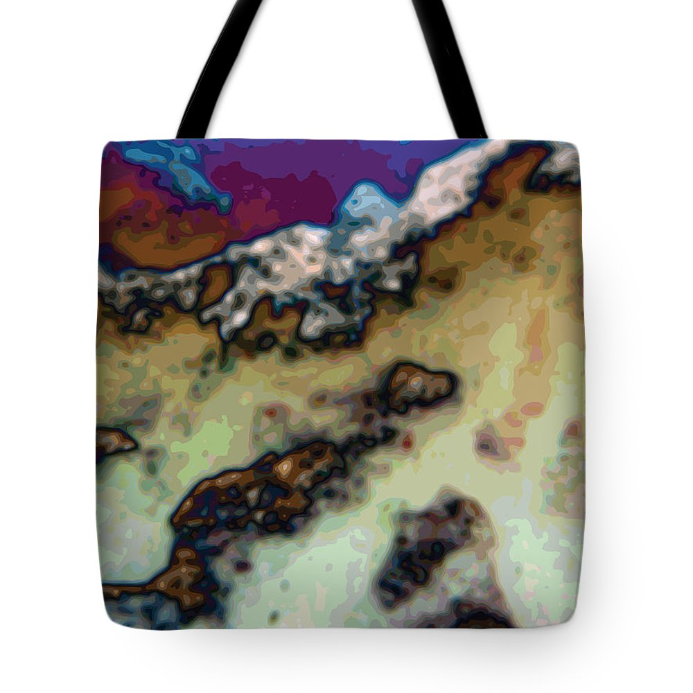 Abstract Tote Bag featuring the digital art Capped by James Kramer