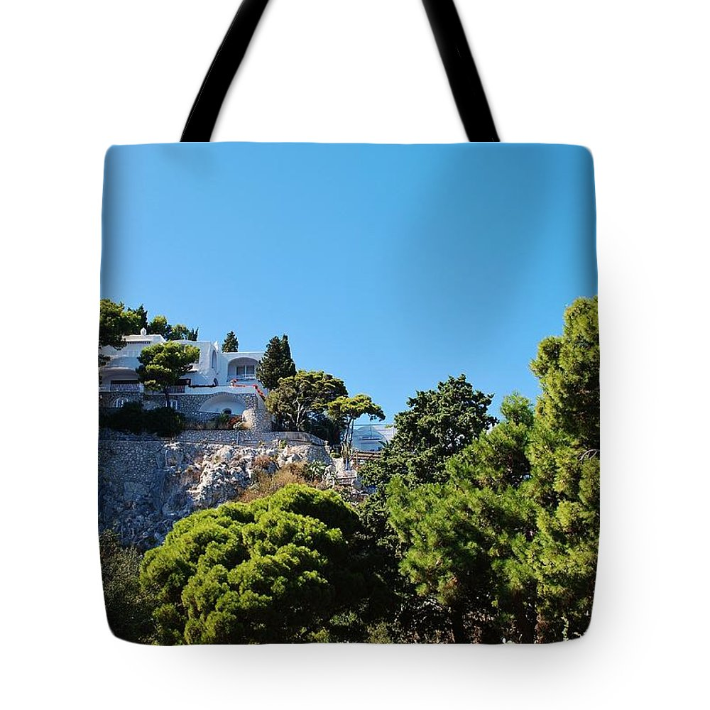 Capri Tote Bag featuring the photograph Capri's Gardens by Dany Lison