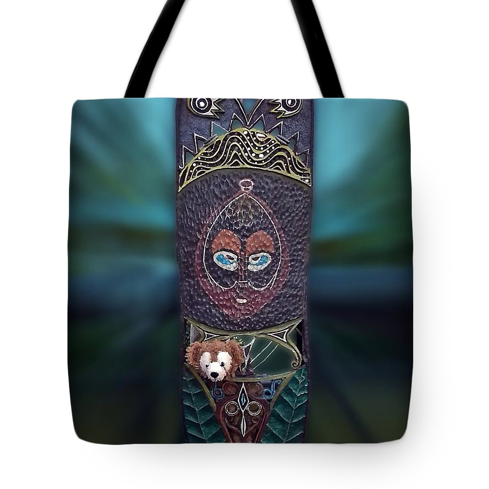 Fantasy Tote Bag featuring the photograph Captured Bear 02 by Thomas Woolworth