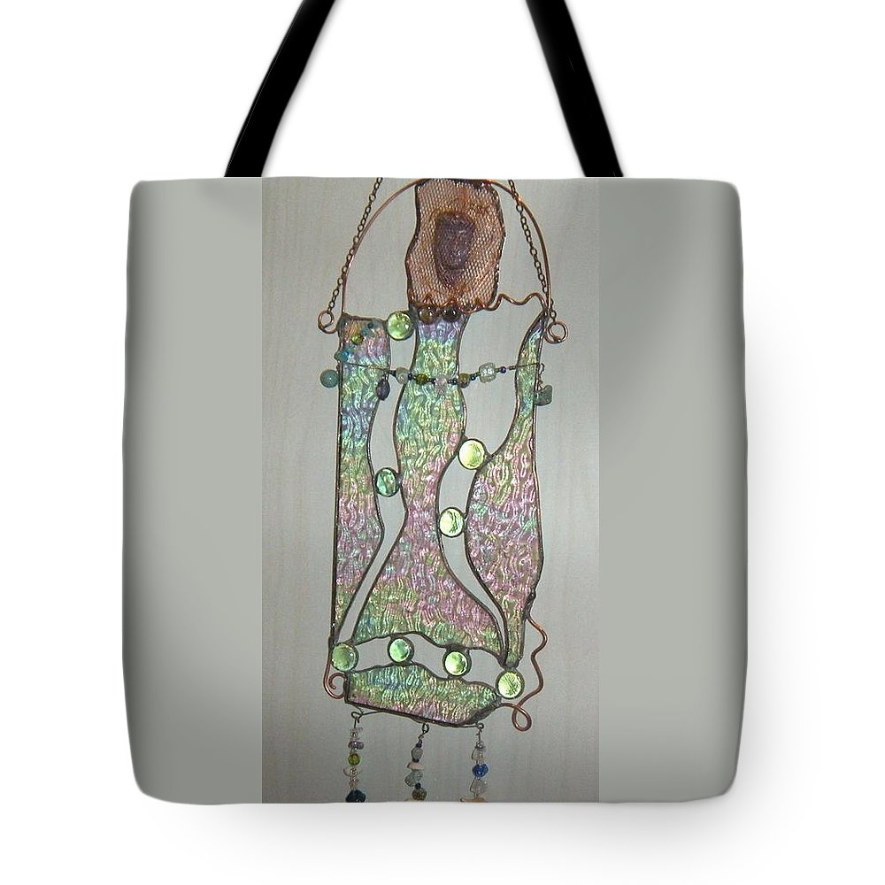 Mermaid Tote Bag featuring the glass art Captured by Nora Solomon