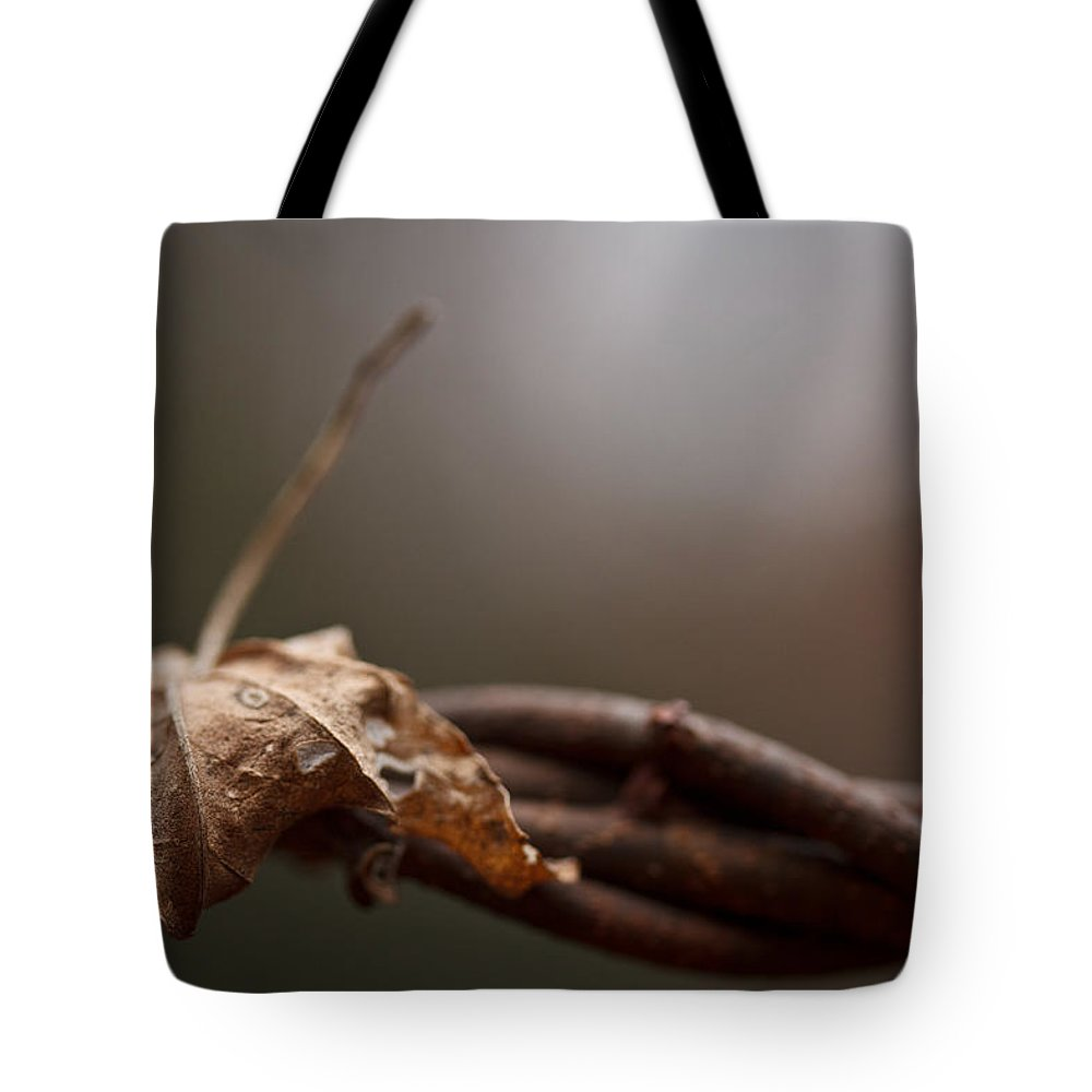 Leaf Tote Bag featuring the photograph Captured by Shane Holsclaw