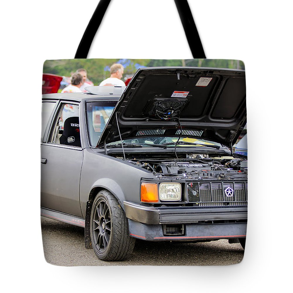 Dodge Omni Glh Tote Bag featuring the photograph Car Show 023 by Josh Bryant