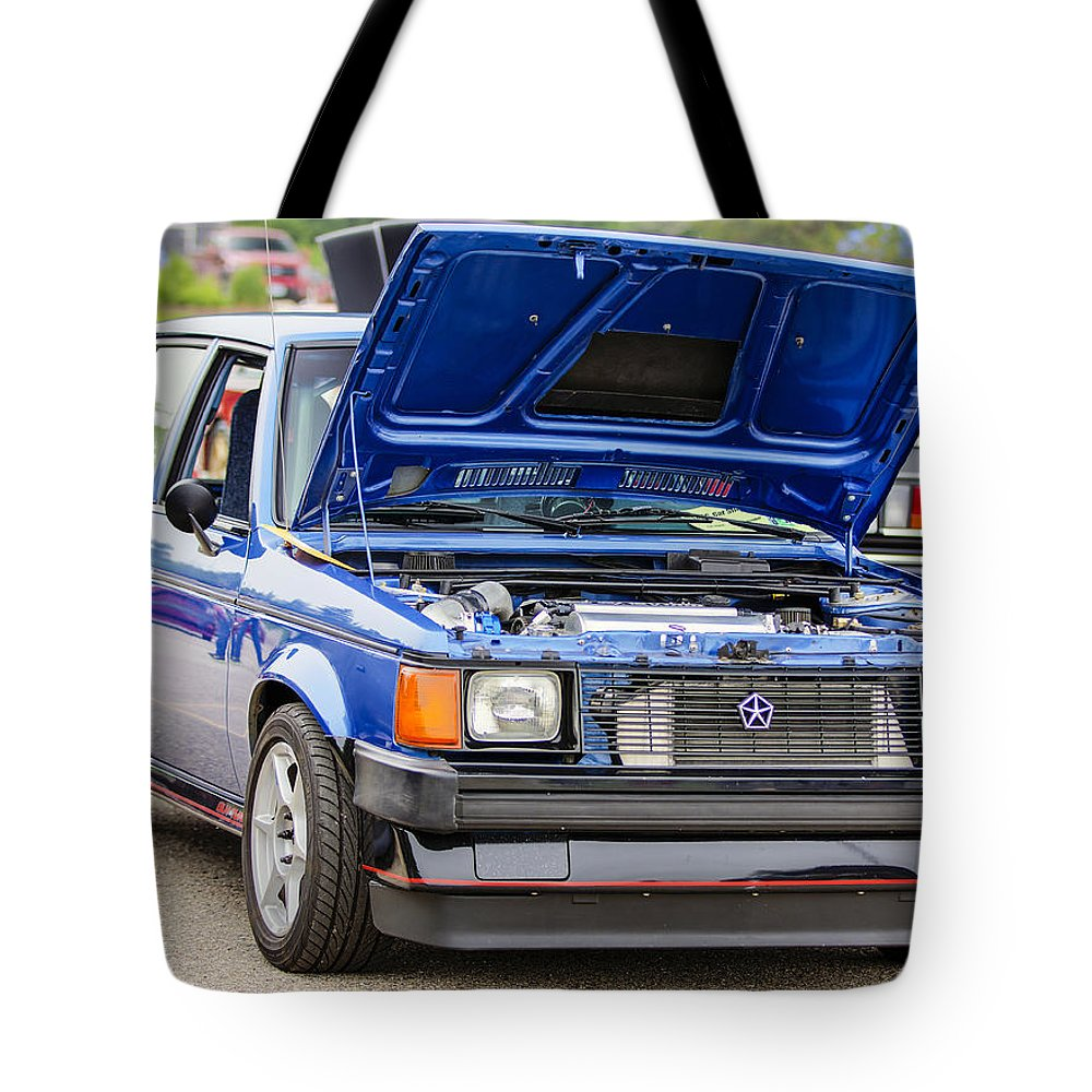 Dodge Omni Glh Turbo Tote Bag featuring the photograph Car Show 024 by Josh Bryant