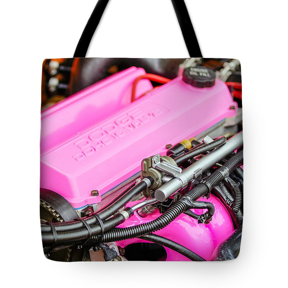 Dodge Spirit Rt Engine Tote Bag featuring the photograph Car Show 027 by Josh Bryant