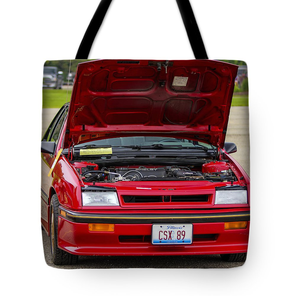 Dodge Shelby Csx Tote Bag featuring the photograph Car Show 037 by Josh Bryant