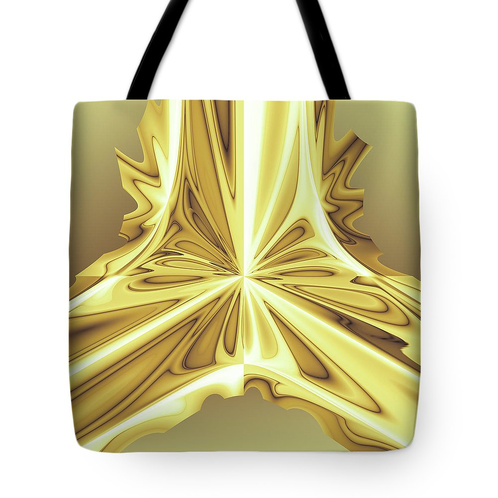 Abstract Tote Bag featuring the digital art Caramel Pendant by Jack Bowman