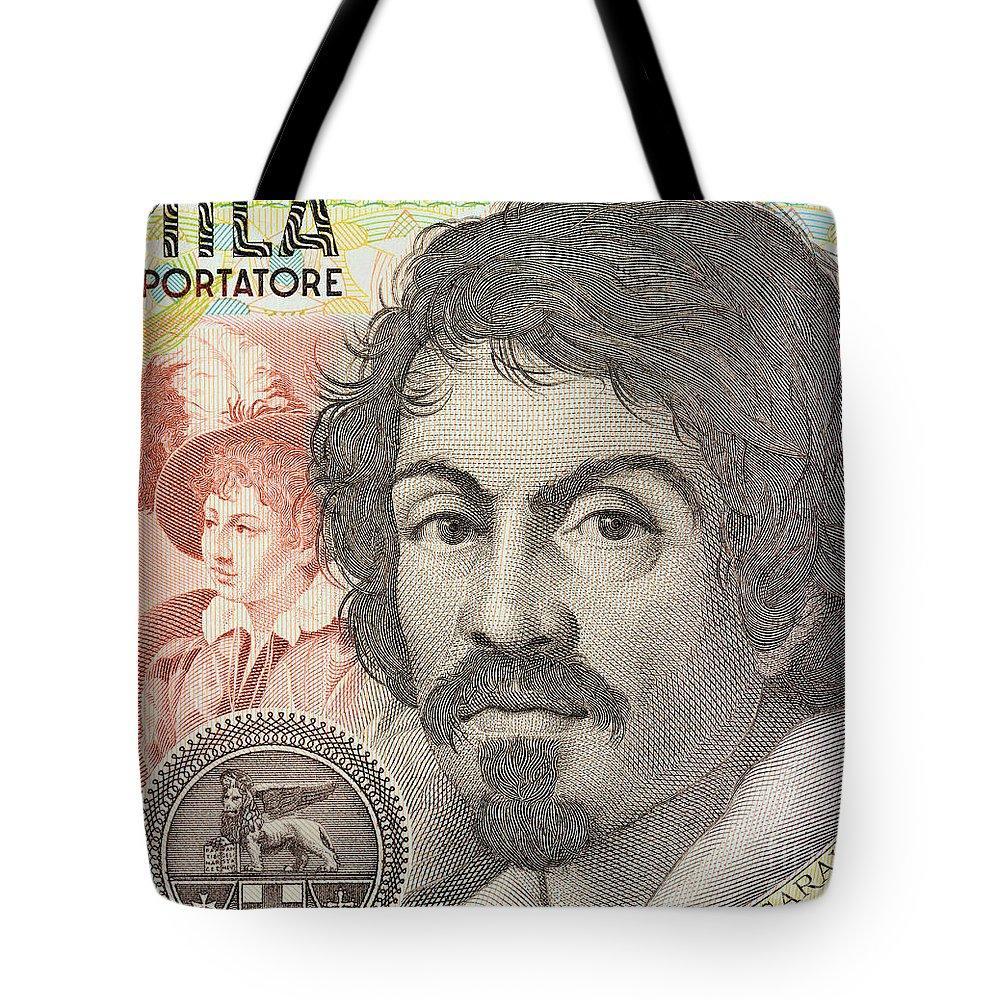 Caravaggio Tote Bag featuring the photograph Caravaggio by Grigorios Moraitis