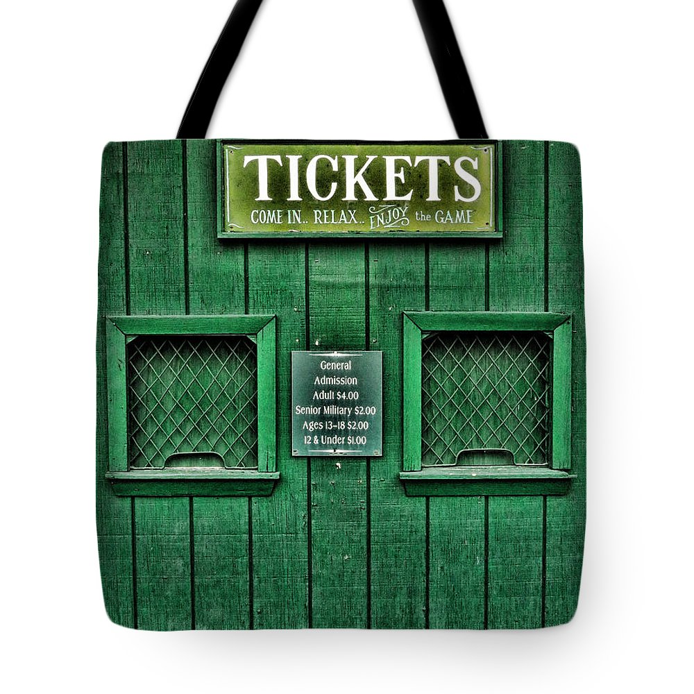 Cardines Field Tote Bag featuring the photograph Cardines Field by Nancy De Flon