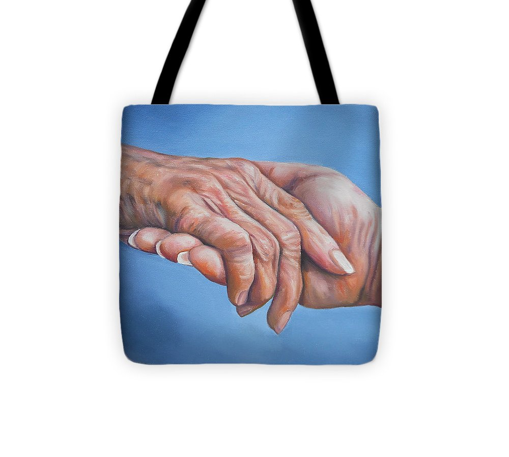 Caregiver Tote Bag featuring the painting Caregiver by Cindy Billingsley