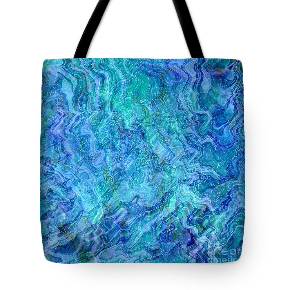 Blue Abstracts Tote Bag featuring the photograph Caribbean Blue Abstract by Carol Groenen