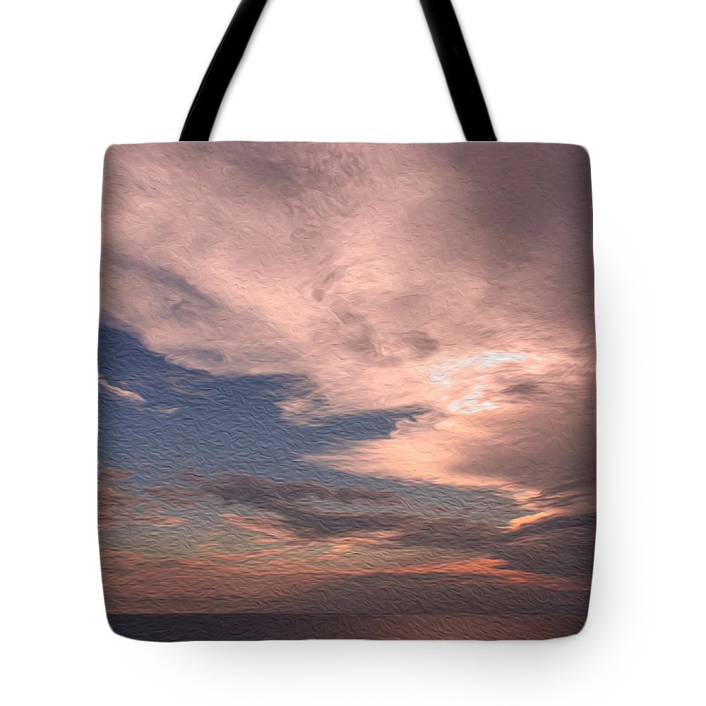 Gulf Tote Bag featuring the photograph Caribbean Clouds by John M Bailey
