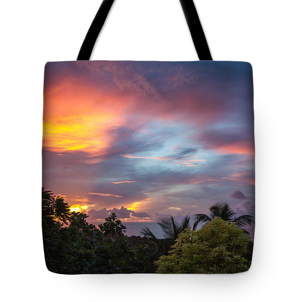 Sunset Tote Bag featuring the photograph Caribbean Colors by Hugh Stickney