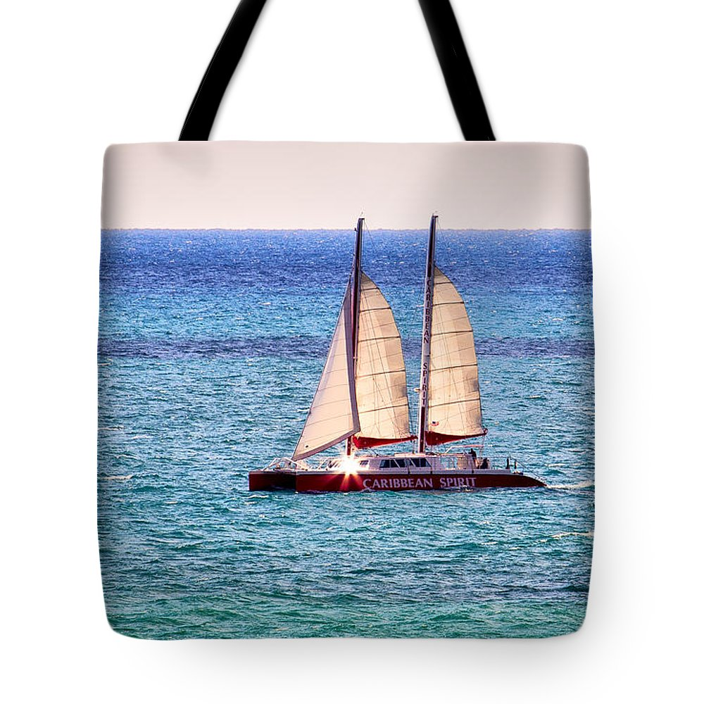 Caribbean Spirit Tote Bag featuring the photograph Caribbean Spirit Sailing The Atlantic by Rene Triay Photography
