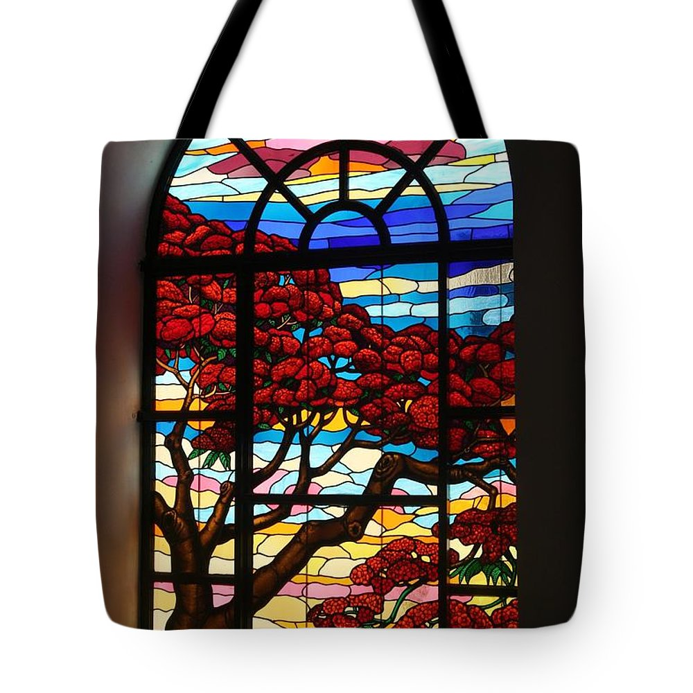 Stained Glass Tote Bag featuring the photograph Caribbean Stained Glass by The Art of Alice Terrill