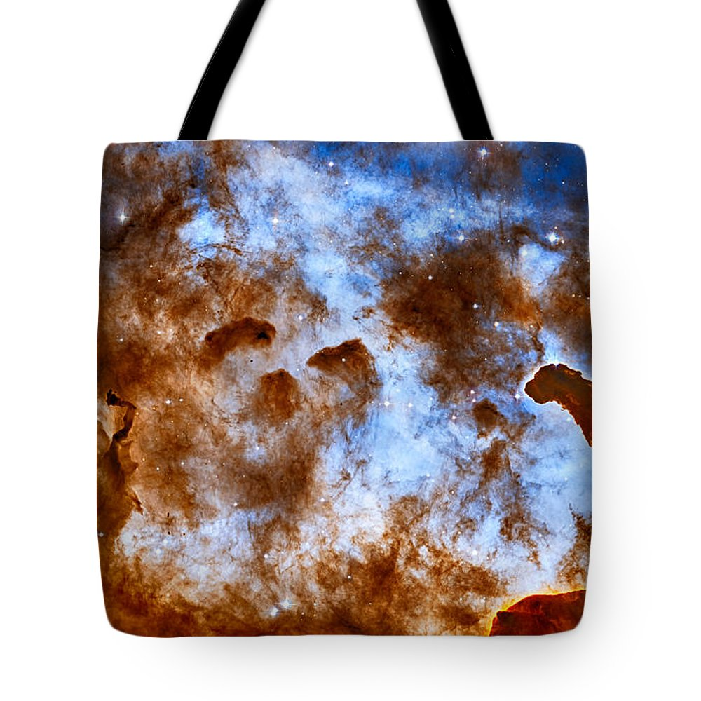 Carina Tote Bag featuring the photograph Carina Nebula-dust Pillars by Eti Reid