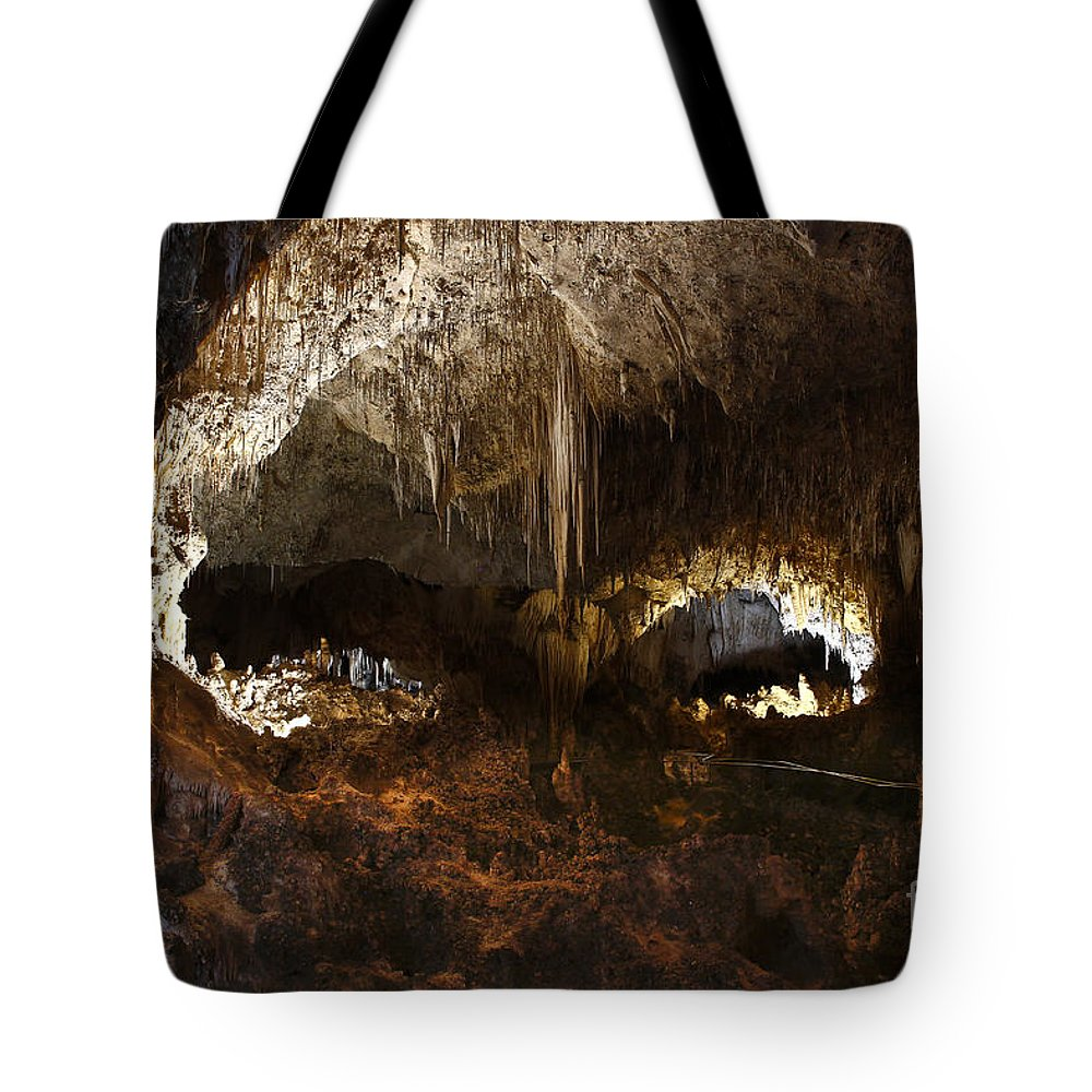 Abstracts Tote Bag featuring the photograph Carlsbad Caverns #3 by Kathy McClure