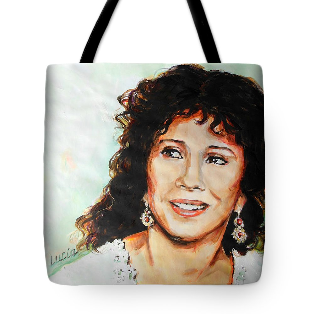 Carmen Tote Bag featuring the painting Carmen by Lucia Hoogervorst