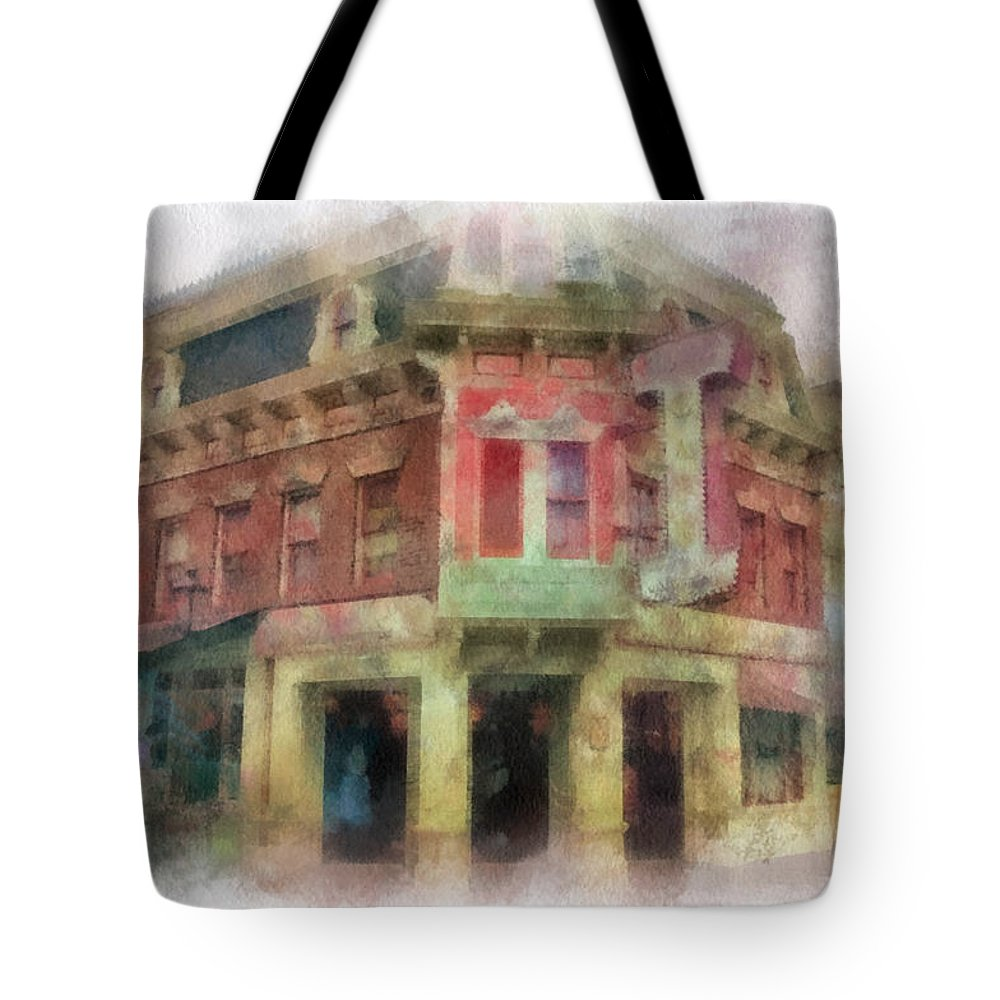 Disney Tote Bag featuring the photograph Carnation Cafe Main Street Disneyland Photo Art 01 by Thomas Woolworth