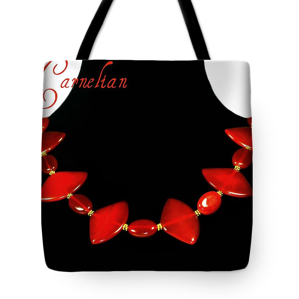 Necklace Tote Bag featuring the photograph Carnelian by Diana Angstadt