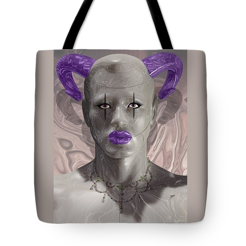 Carnival Tote Bag featuring the digital art Carnival Of Robotic Dionysus by Quim Abella