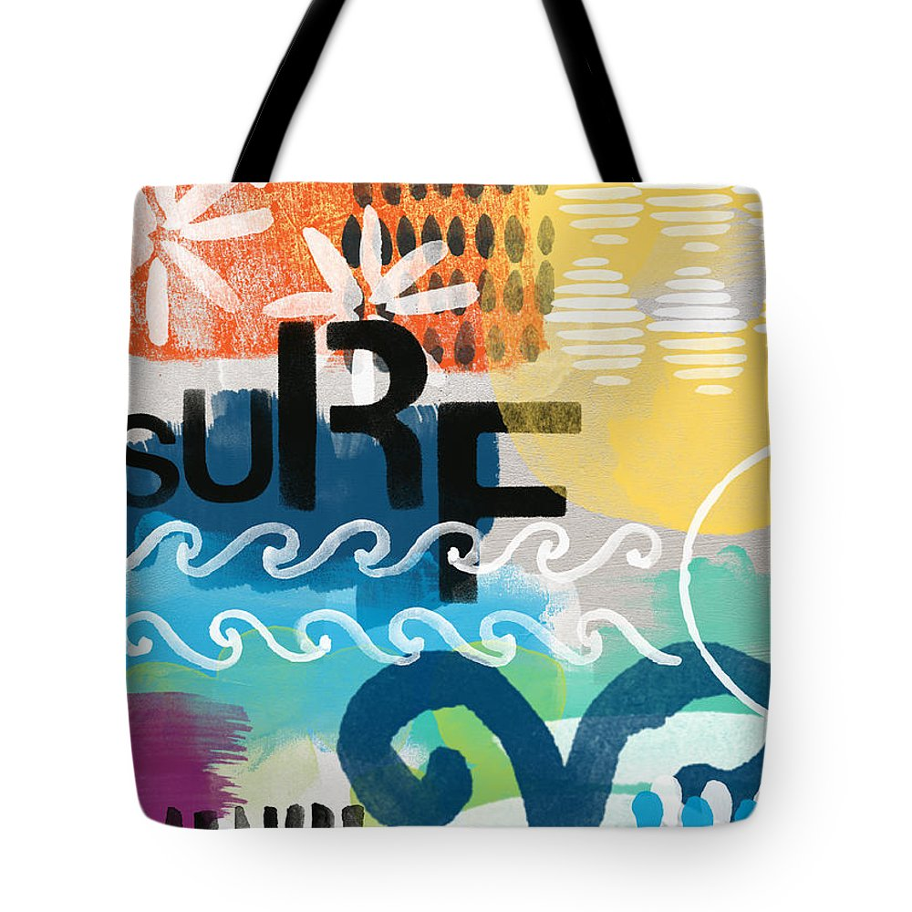 Surf Tote Bag featuring the painting Carousel #7 Surf - Contemporary Abstract Art by Linda Woods