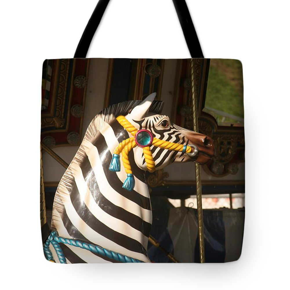 Horse Tote Bag featuring the photograph Carousel Imagination by Liz Marr