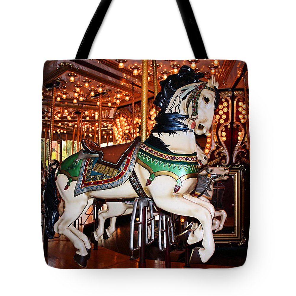 Carousel Tote Bag featuring the photograph Carousel by Kristin Elmquist