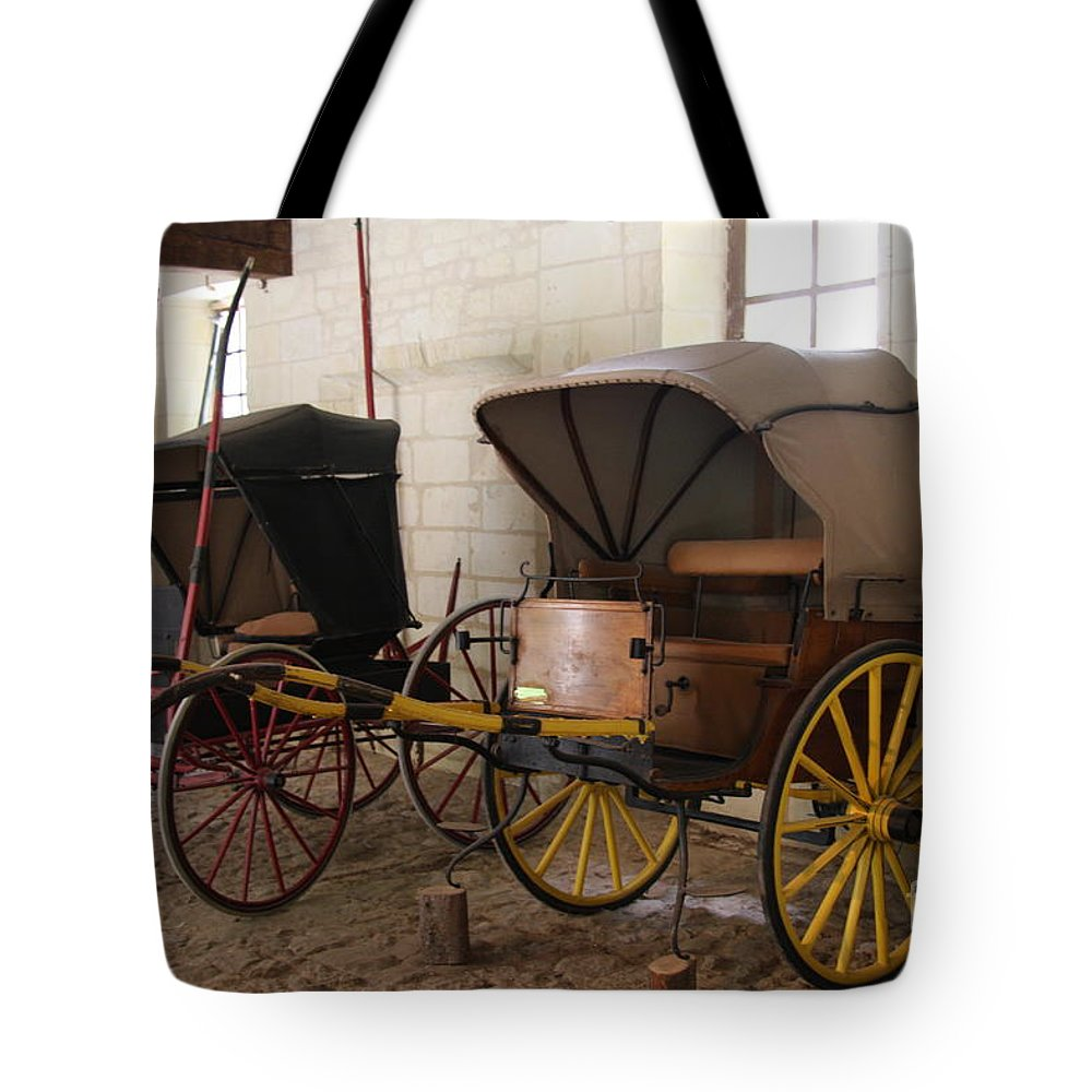 Carriage Tote Bag featuring the photograph Carriage - Chateau Usse by Christiane Schulze Art And Photography