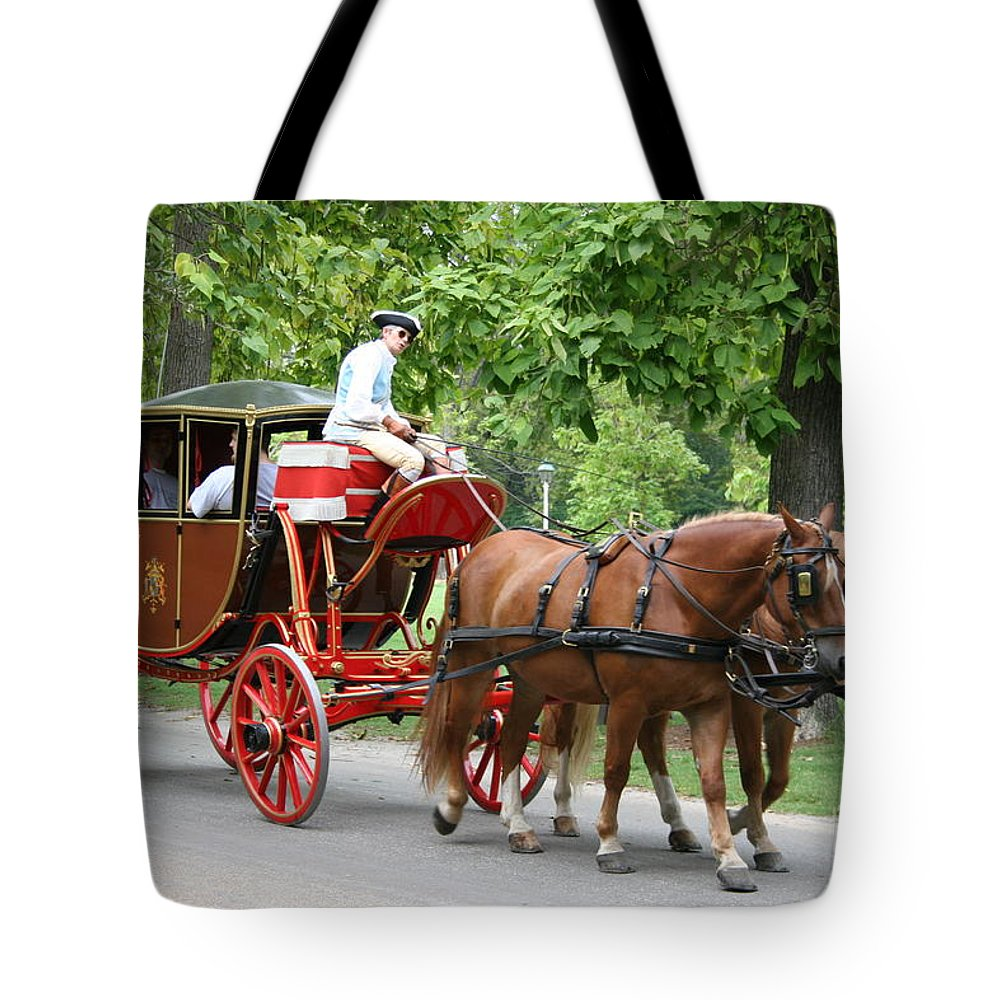 Carriage Tote Bag featuring the photograph Carriage by Christiane Schulze Art And Photography