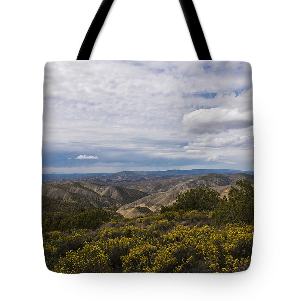 Carrizo Plains National Monument Tote Bag featuring the photograph Carrizo Canyon by Mike Herdering
