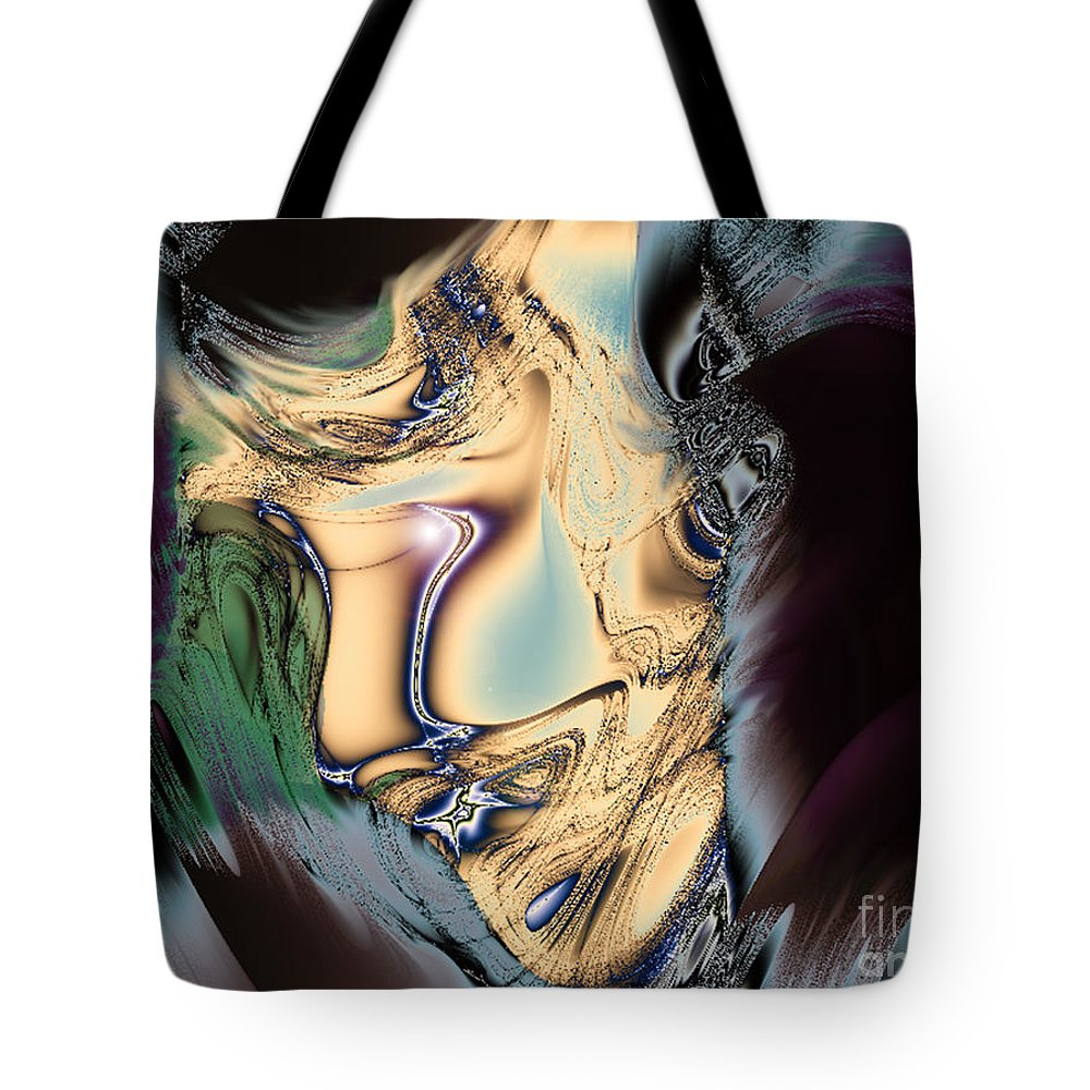 2-dimensional Tote Bag featuring the digital art Carry On by Dana Haynes