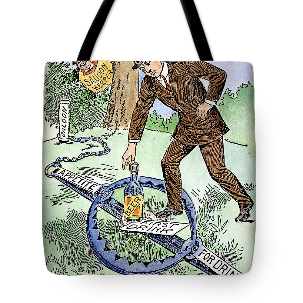 1915 Tote Bag featuring the photograph Cartoon: Temperance, C1915 by Granger