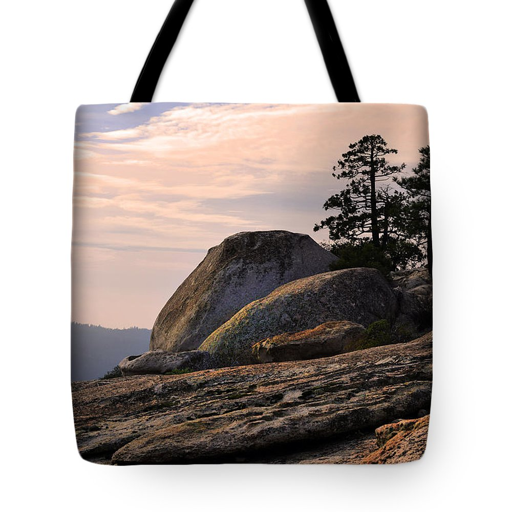 Bald Rock Dome Tote Bag featuring the photograph Carved Granite by Frank Wilson