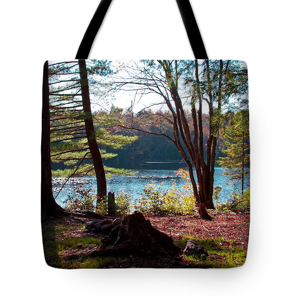 Adirondack's Tote Bag featuring the photograph Cary Lake In The Fall by David Patterson