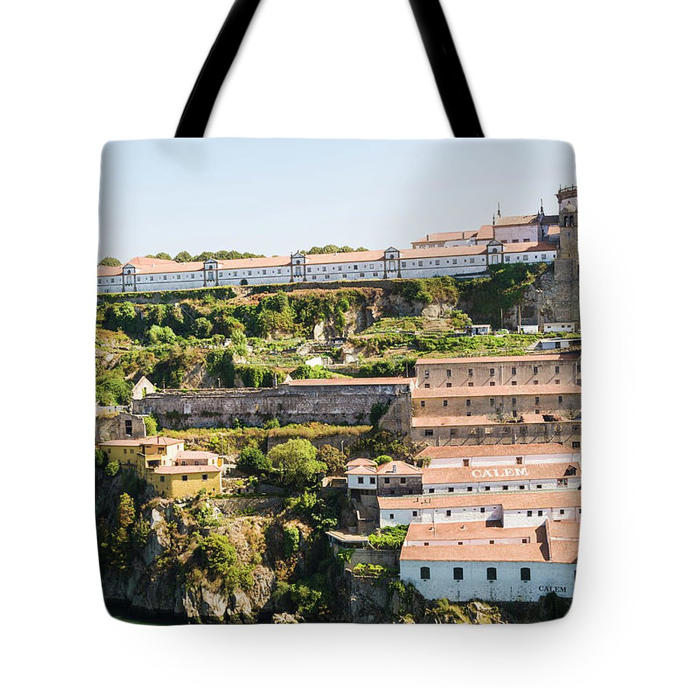 Clear Sky Tote Bag featuring the photograph Casa Calem, Port Wine Houses, Porto by John Harper