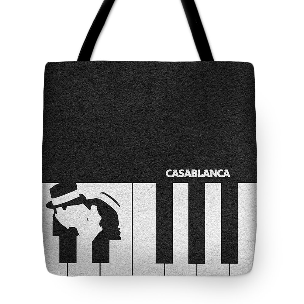 Casablanca Tote Bag featuring the digital art Casablanca by Inspirowl Design