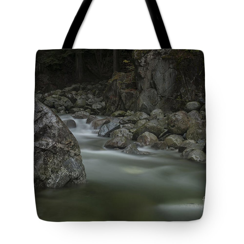 Waterfalls. Mission Bc Tote Bag featuring the photograph Cascade Creek by Rod Wiens