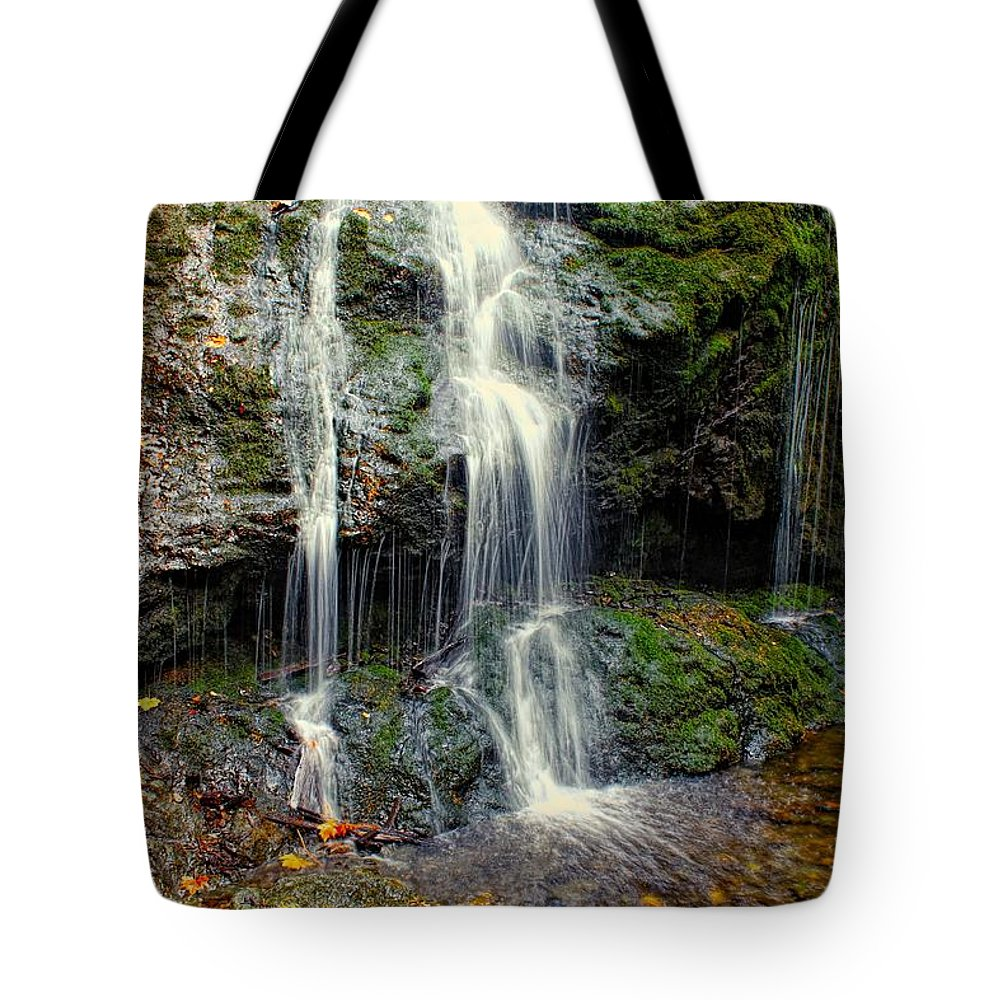 Washington Tote Bag featuring the photograph Cascade Falls In The Fall by Rick Lawler