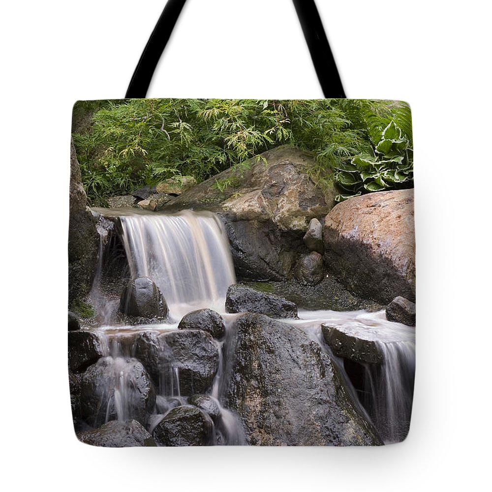 3scape Tote Bag featuring the photograph Cascade Waterfall by Adam Romanowicz