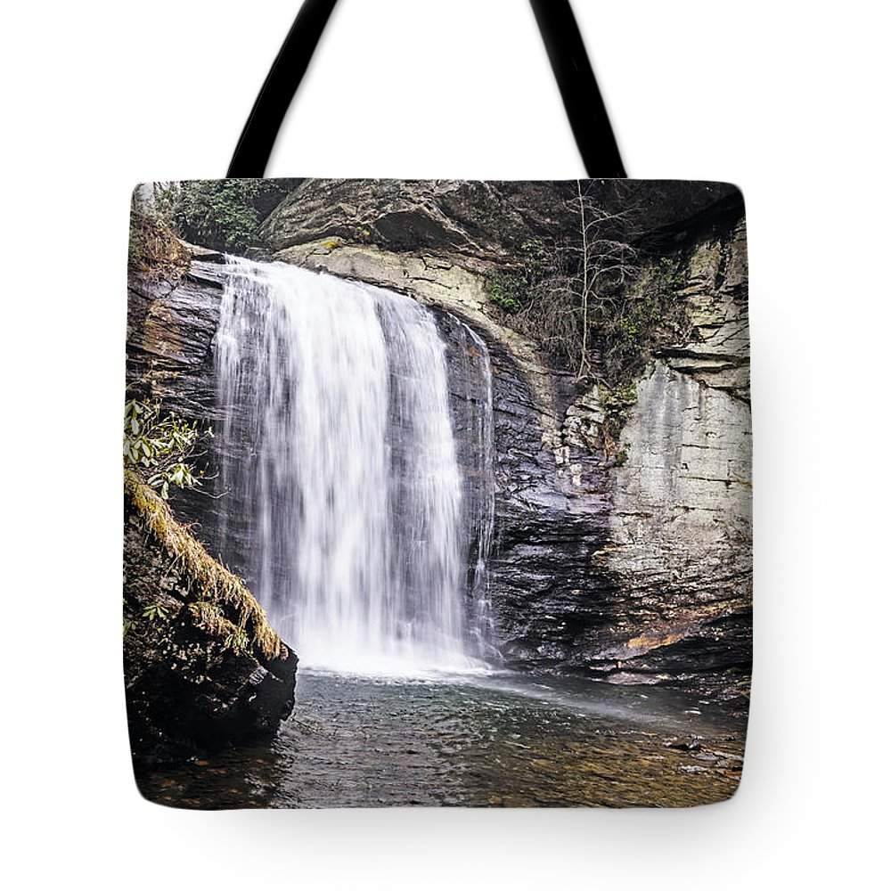Waterfall Tote Bag featuring the photograph Cascading Into A Pool by Elvis Vaughn